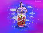 Wild Strawberry Boba Tea