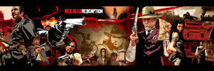 Red Dead Redemption Collage in border sizing