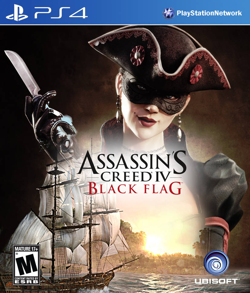 Assassin S Creed Iv Black Flag Ps4 Cover By Domestrialization On