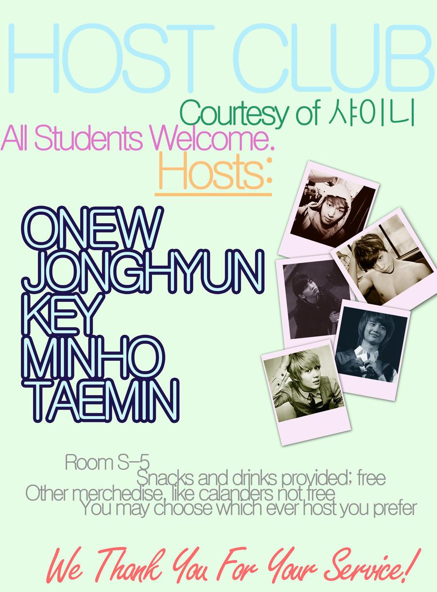 -SHINee High School Host Club: Host Club Flyer-