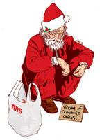 Homeless Santa. by t-drom