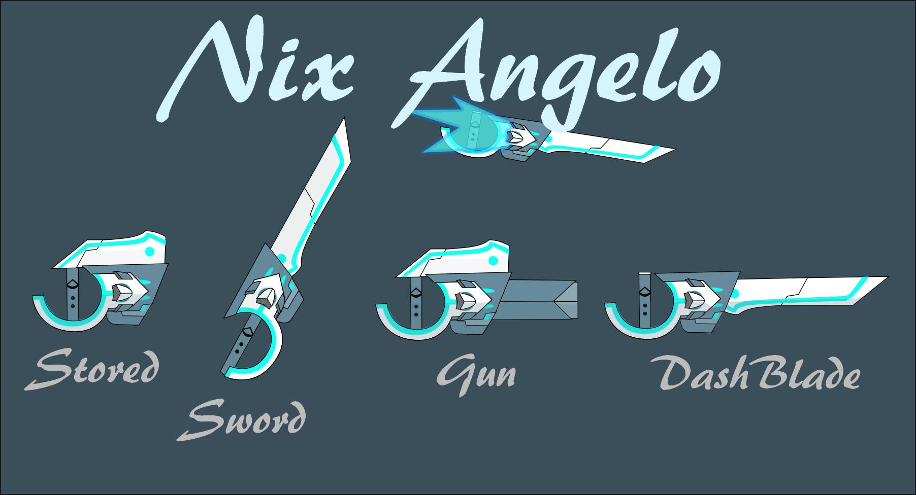 Bladed Fan Weapon : Rwby fan weapon nix angelo by silverblur on deviantart