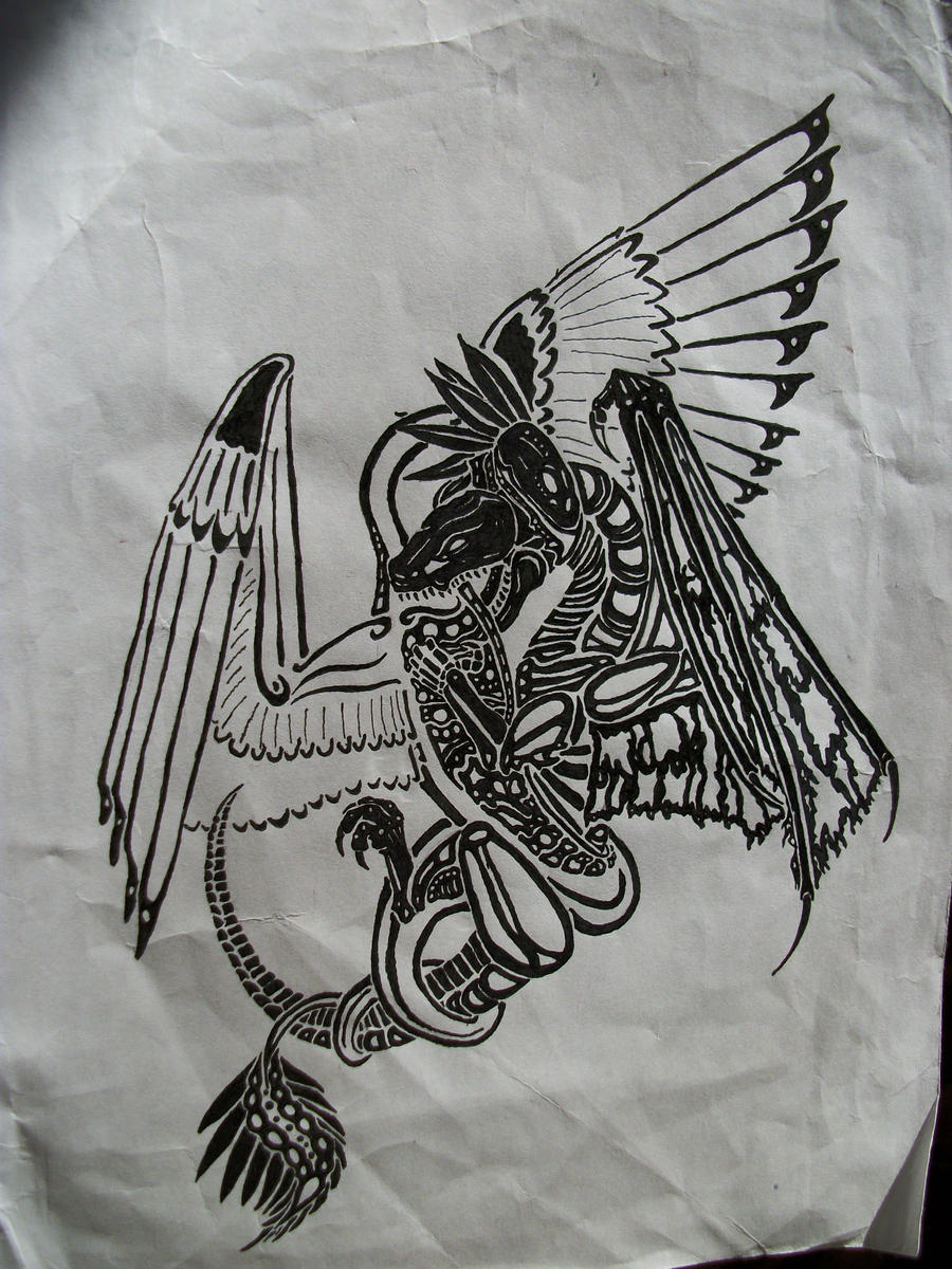 quetzalcoatl aztec drawing - photo #18