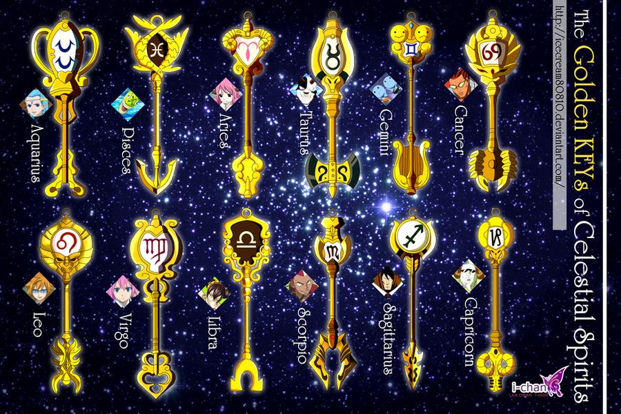 The 12 Golden KEYs of Celestial Spirits by icecream80810 ...