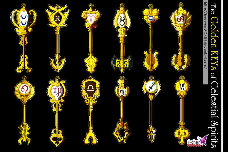 The 12 Golden KEYs of Celestial Spirits by icecream80810