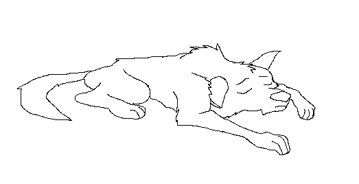 how to draw a dead cat lying down