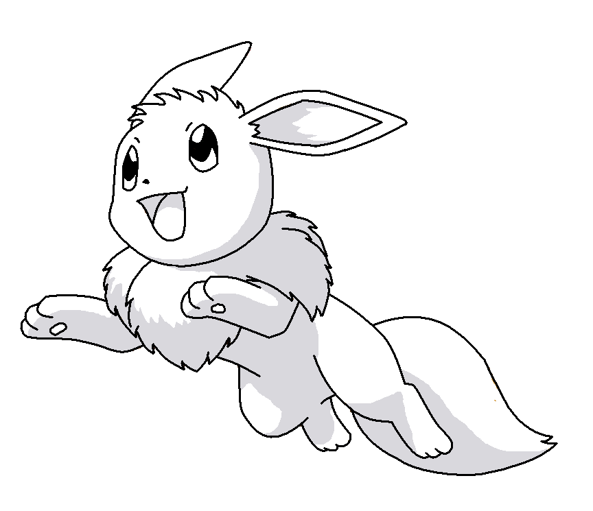 Eevee jump base by shadowwolfbases on deviantart for Vaporeon coloring pages