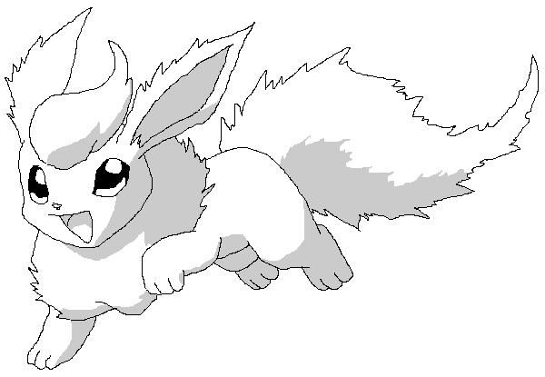 Pokemon Kleurplaten Glaceon.Flareon Coloring Pages