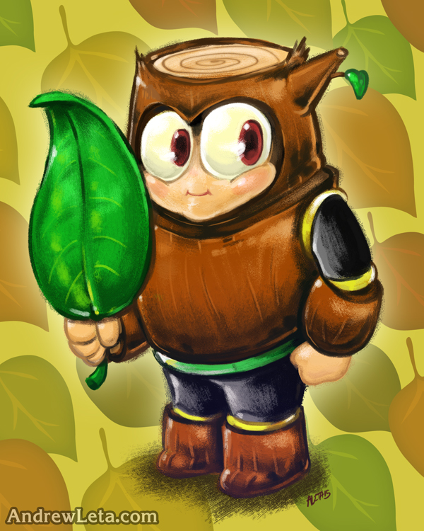 Cute Lil' Woodman by rockmanzallz