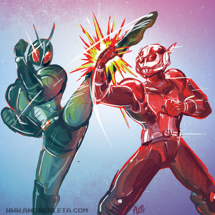 Bug Man Battle by rockmanzallz