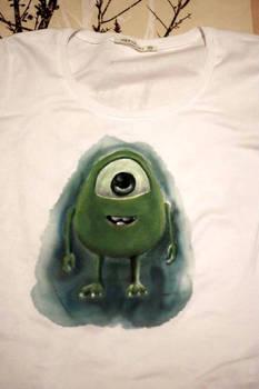 Baby Mike Wazowski Hand-Painted t-shirt
