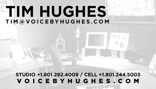'Voice By Hughes' Business Card by LennonDesign
