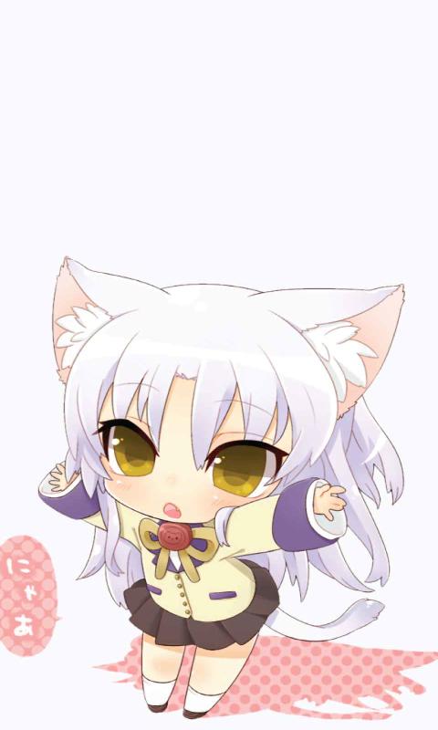 Anime Neko Wallpapers - WallpaperSafari  |Chibi Anime Neko Girl
