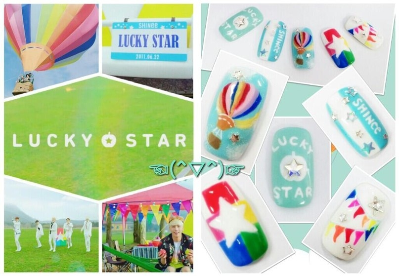 SHINee Lucky Star Nails by Taemin4ever on DeviantArt