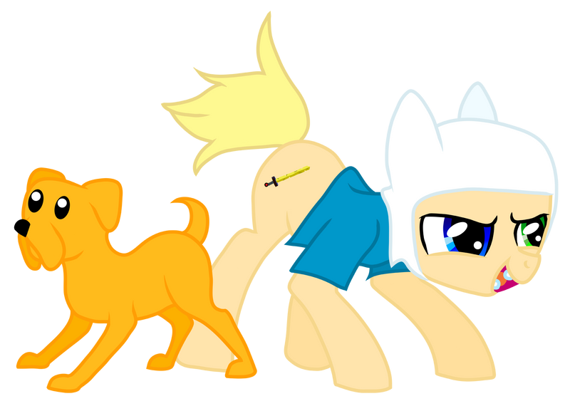 Jake the Dog and Finn the Pony by BeckaPOW