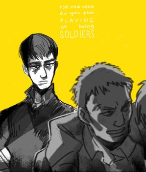 [shingeki no kyojin] Playing at Soldiers