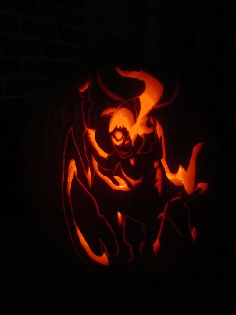 Lol: Diana pumpkin carving by NachttOwl