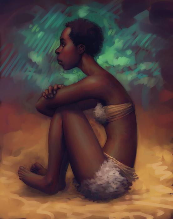 Pensive Dossouye by mattahan