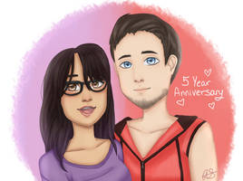 Five Year Anniversary! by ivrinne