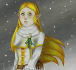 Winter Zelda by ivrinne