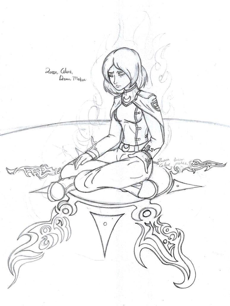 Queen Celene Concept 01 by CrowDeCorvidae