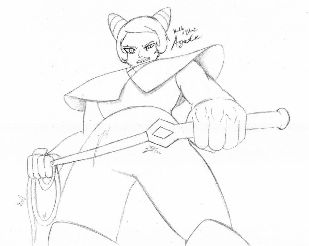 An Agate Terrifies - Steven Universe by CrowDeCorvidae