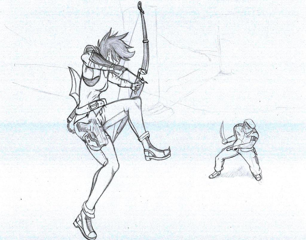 Nikita - Bow to Blade by CrowDeCorvidae