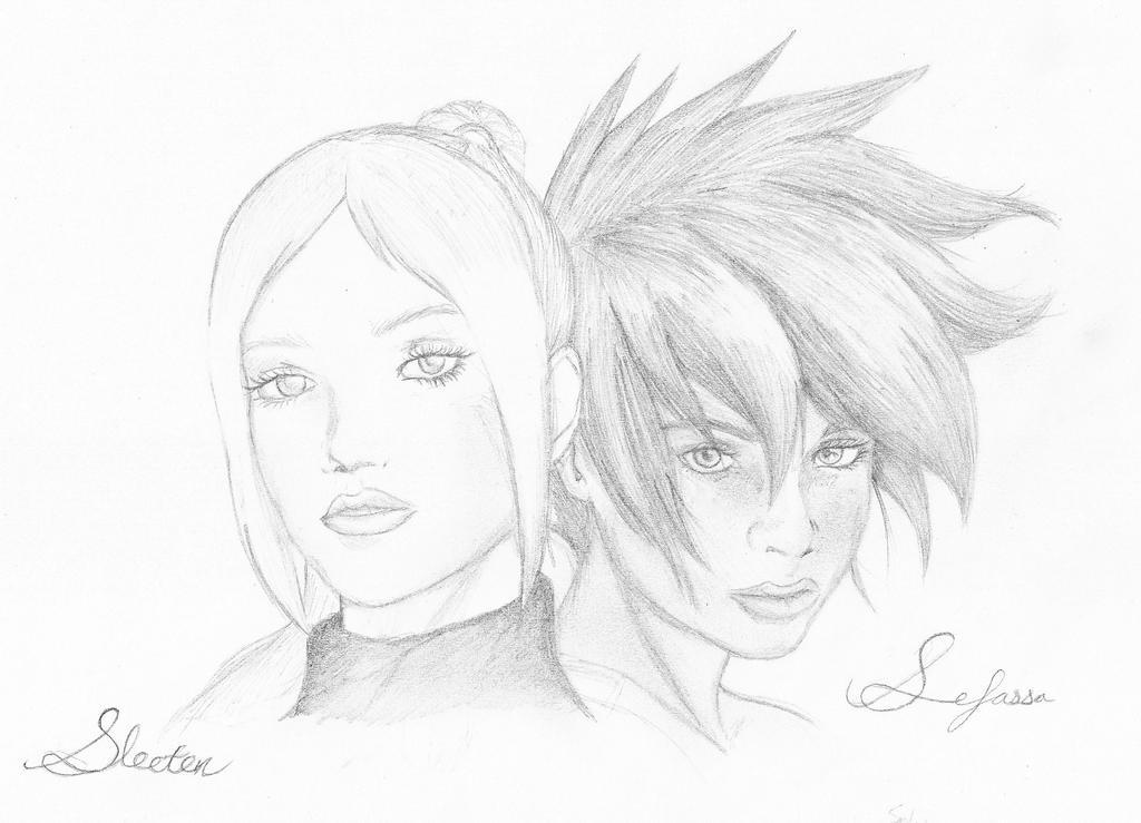Nikita and Glacia by CrowDeCorvidae