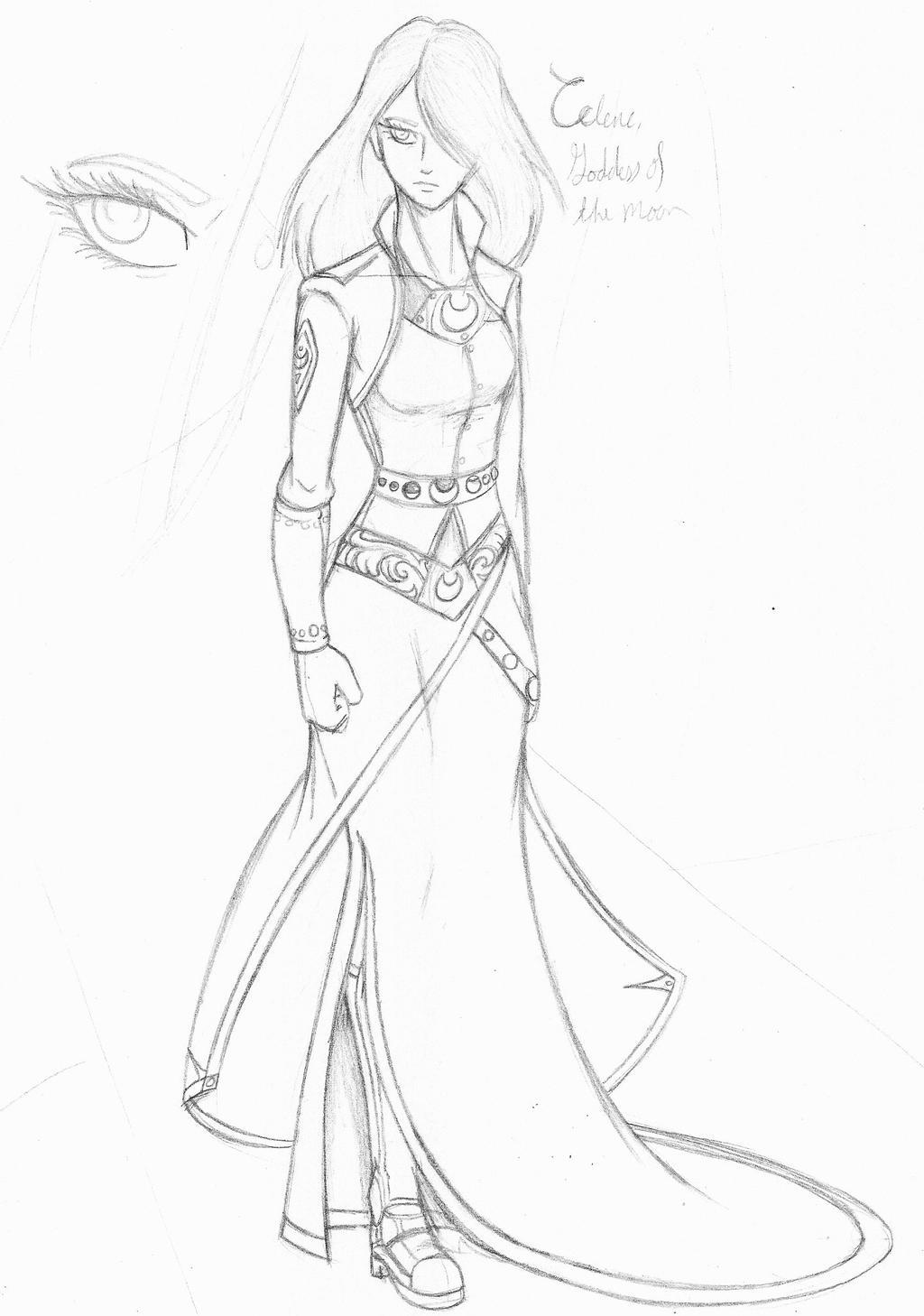Queen Celene - Formal Attire, Part I by CrowDeCorvidae