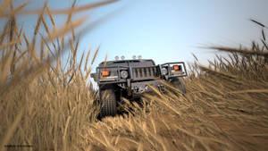 Hummer H1 3D render by Kadamx
