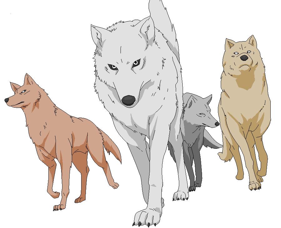 Wolf's Rain Pack by YingYangKurai
