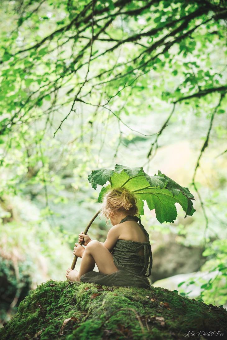 The green little lady by Julieoftheworldtree