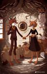Mr and Mrs Fox (After Van Eyck)