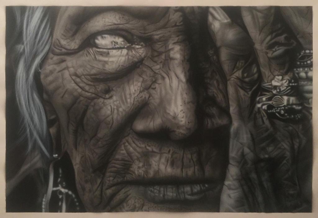 Weathered Woman by AirbrushEffect
