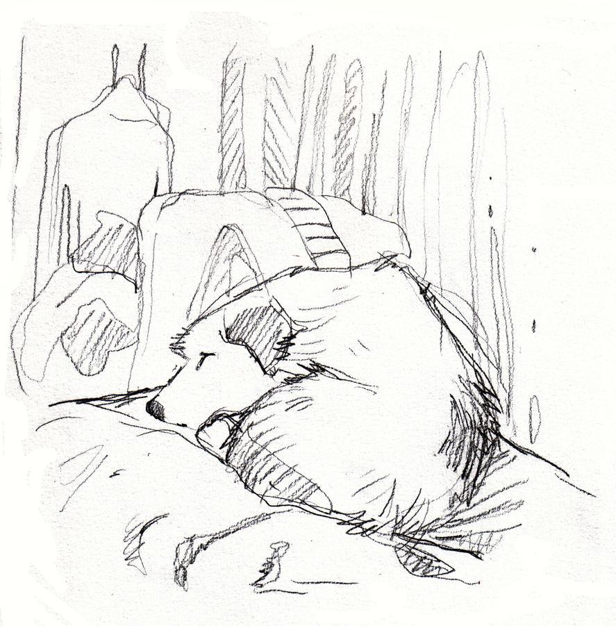 Berny sleeping by bermarte
