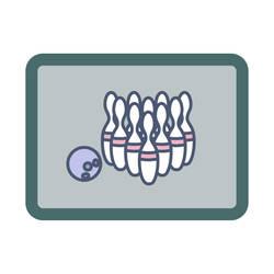 Bowling icon by bermarte