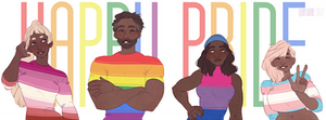 [OC AND Fanart] Happy LGBT pride !
