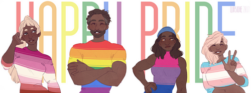 [OC AND Fanart] Happy LGBT pride !
