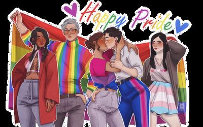 [OCs] Pride Month 2k19 ! by Qursidae