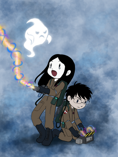 Switch and Yuki Go Ghostbusting by FairyKitsch