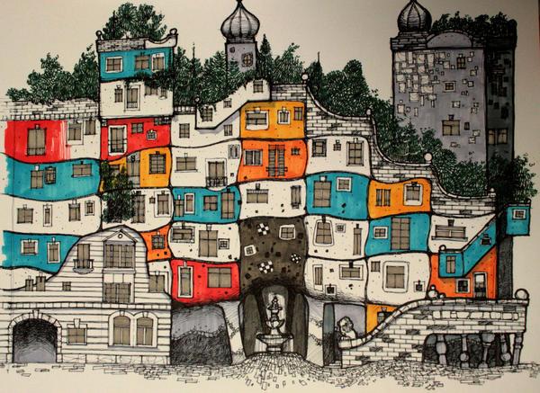 Hundertwasserhaus Color By Killabee On Deviantart