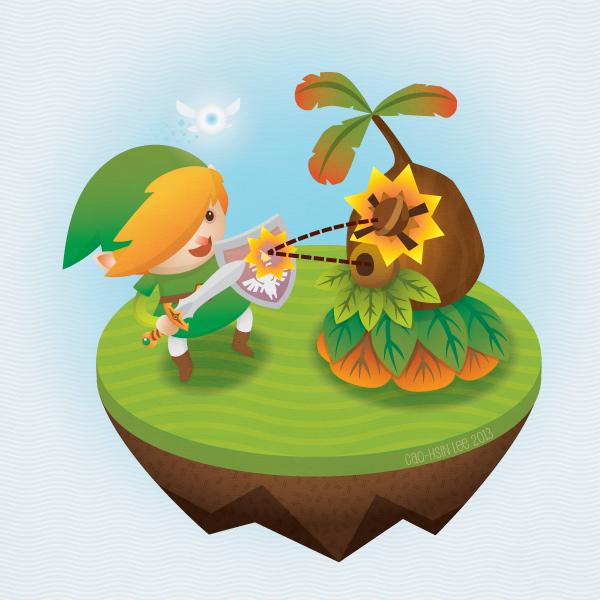 Link and Deku Scrub play catch! ... *fail* by C-A-U-T-I-O-N