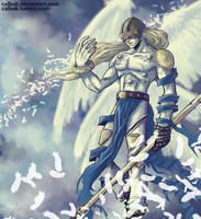 Angemon fan art by Calbak