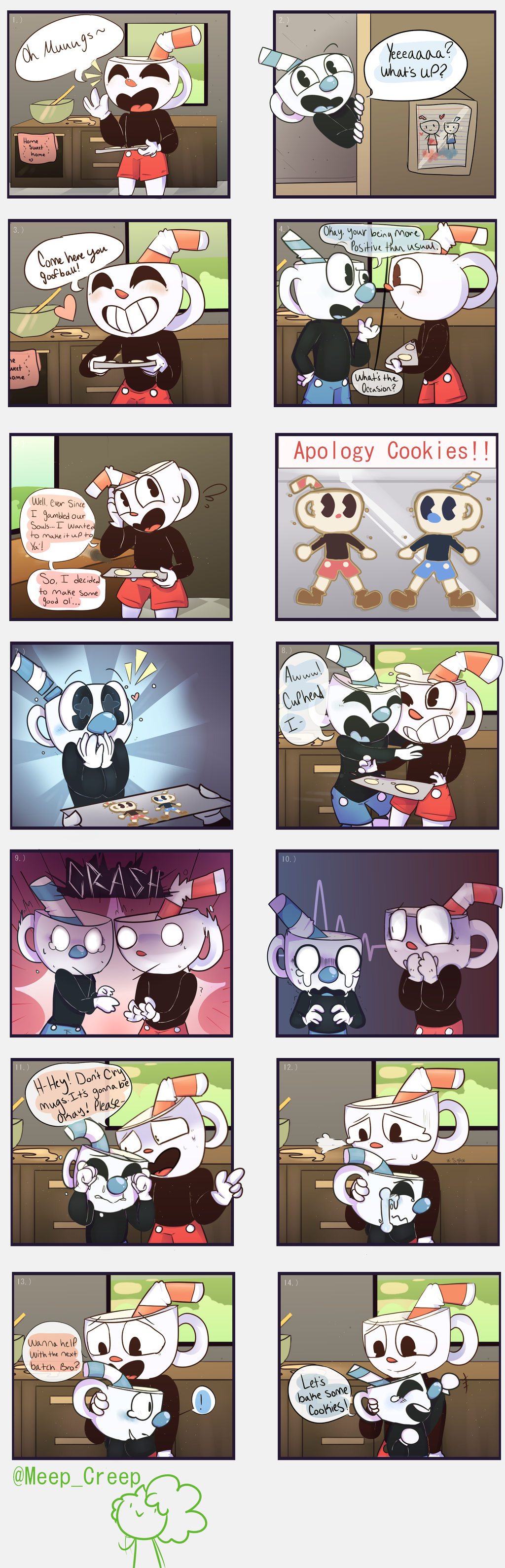 {Apology Cookies!} Cuphead Comic by MeepCreep