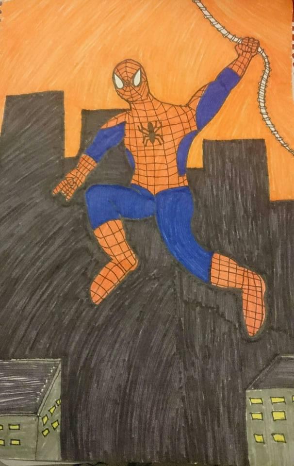 Spiderman - Inktober 2016 Day 15 by ashthedragon
