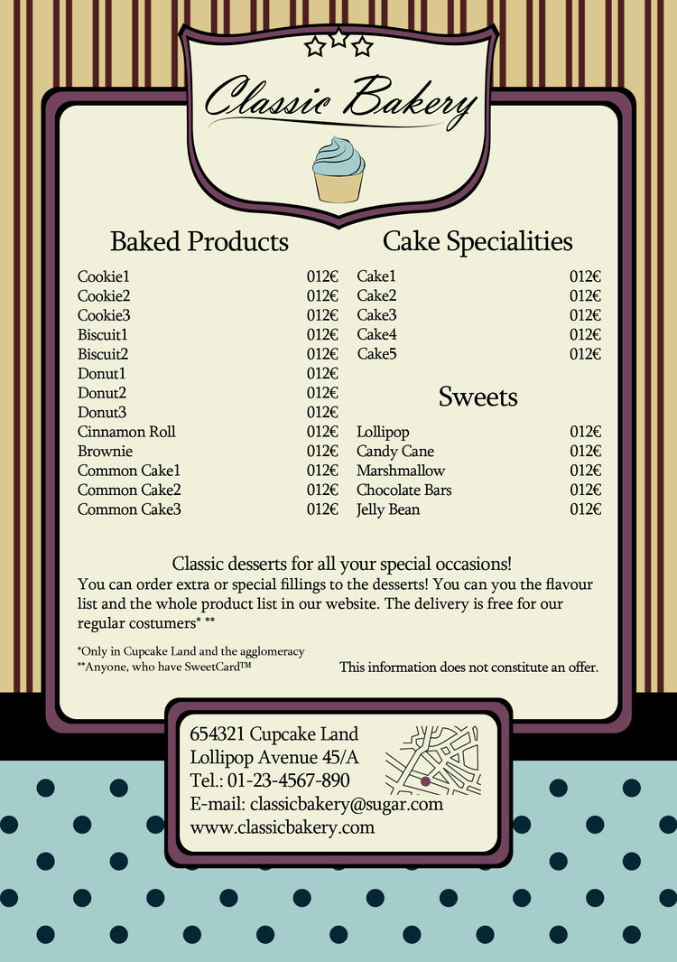 sweetie flyer sample for some imagined bakery by lilienb on sweetie flyer sample for some imagined bakery by lilienb