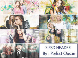 PSD Header Pack by Perfect-Ousan