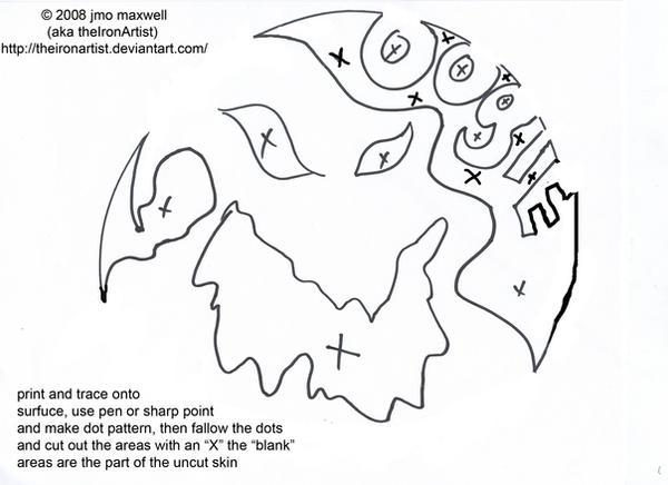 Oogie boogie pumkin pattern by theironartist on deviantart