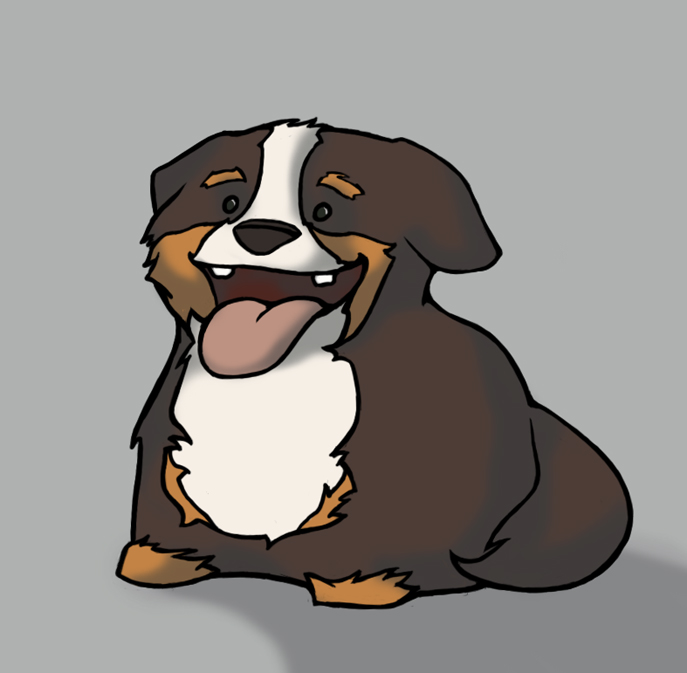 Great Bernese Mountain Dog Chubby Adorable Dog - chubby_bernese_mountain_dog_by_animatedpunk  Perfect Image Reference_972347  .jpg