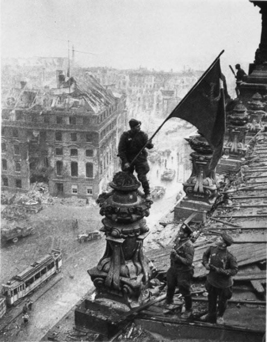 Flag over the Reichstag by RussianBear2345